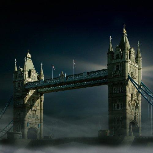 Пазл «Тауэрский мост в Лондоне ночью»