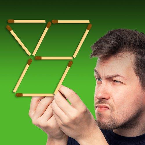 Видео головоломка: головоломки со спичками